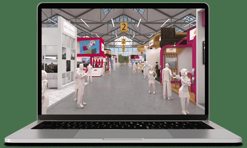 Bild einer Online-Messe mit 3D-Technologie