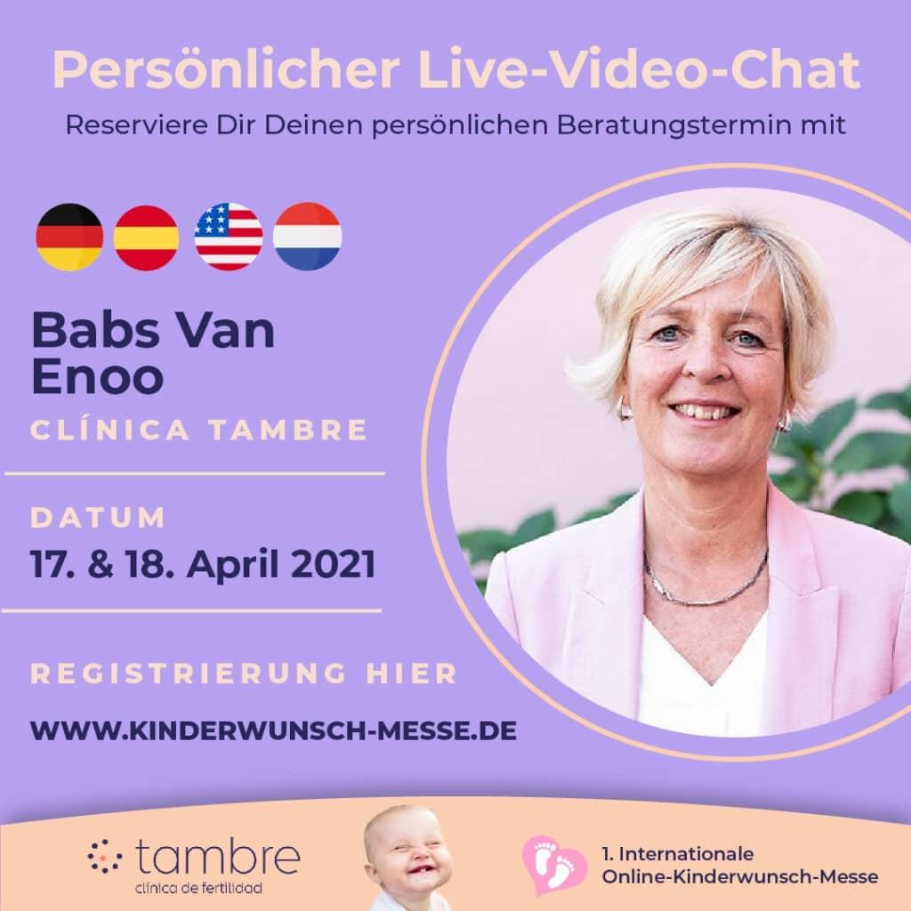 Persönliches Beratungsgespräch mit Babs van Enoo, Clinica Tambre