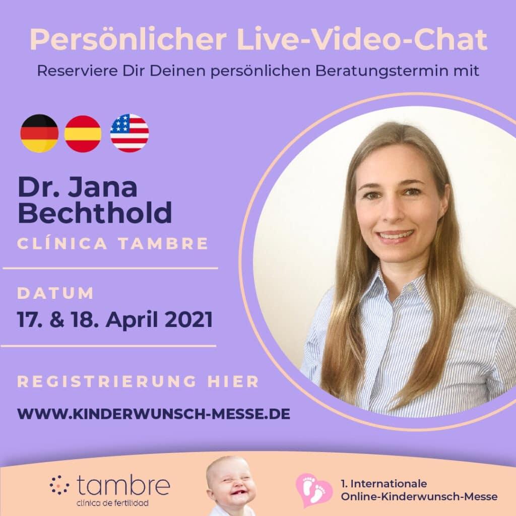 Persönliches Beratungsgespräch mit Dr. Jana Bechthold, Clinica Tambre