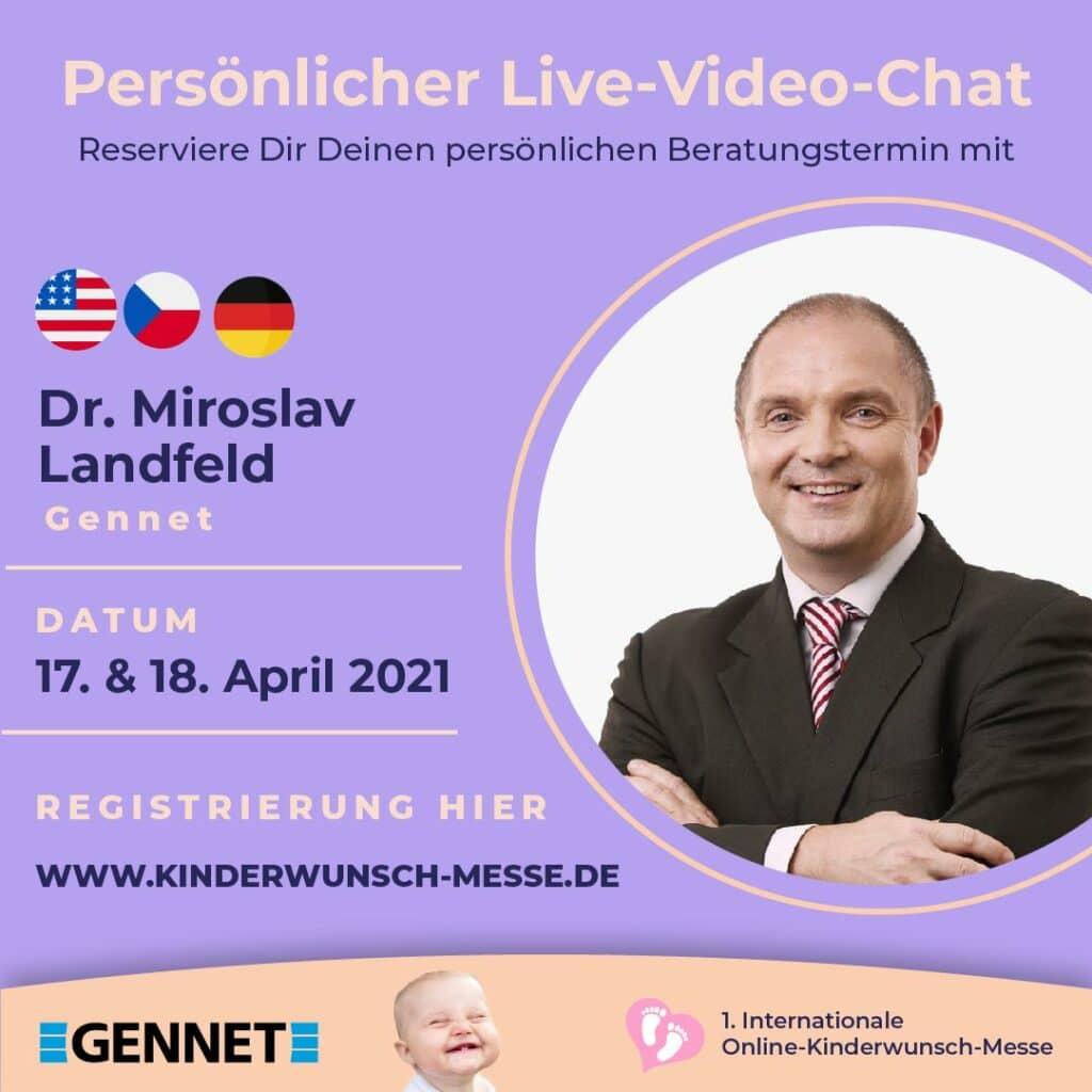 Persönliches Beratungsgespräch mit Dr. Miroslav Landfeld, Gennet