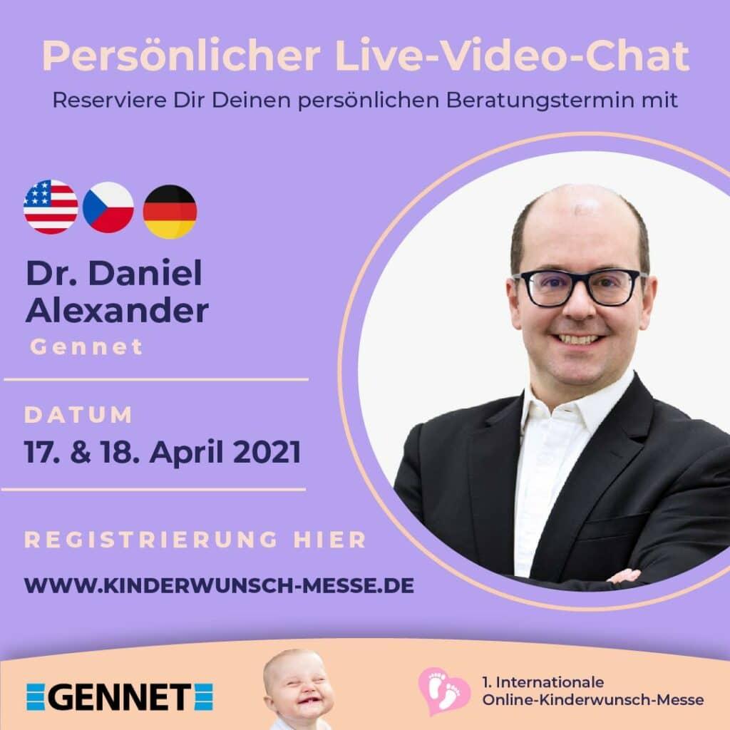 Persönliches Beratungsgespräch mit Dr. Daniel Alexander, Gennet