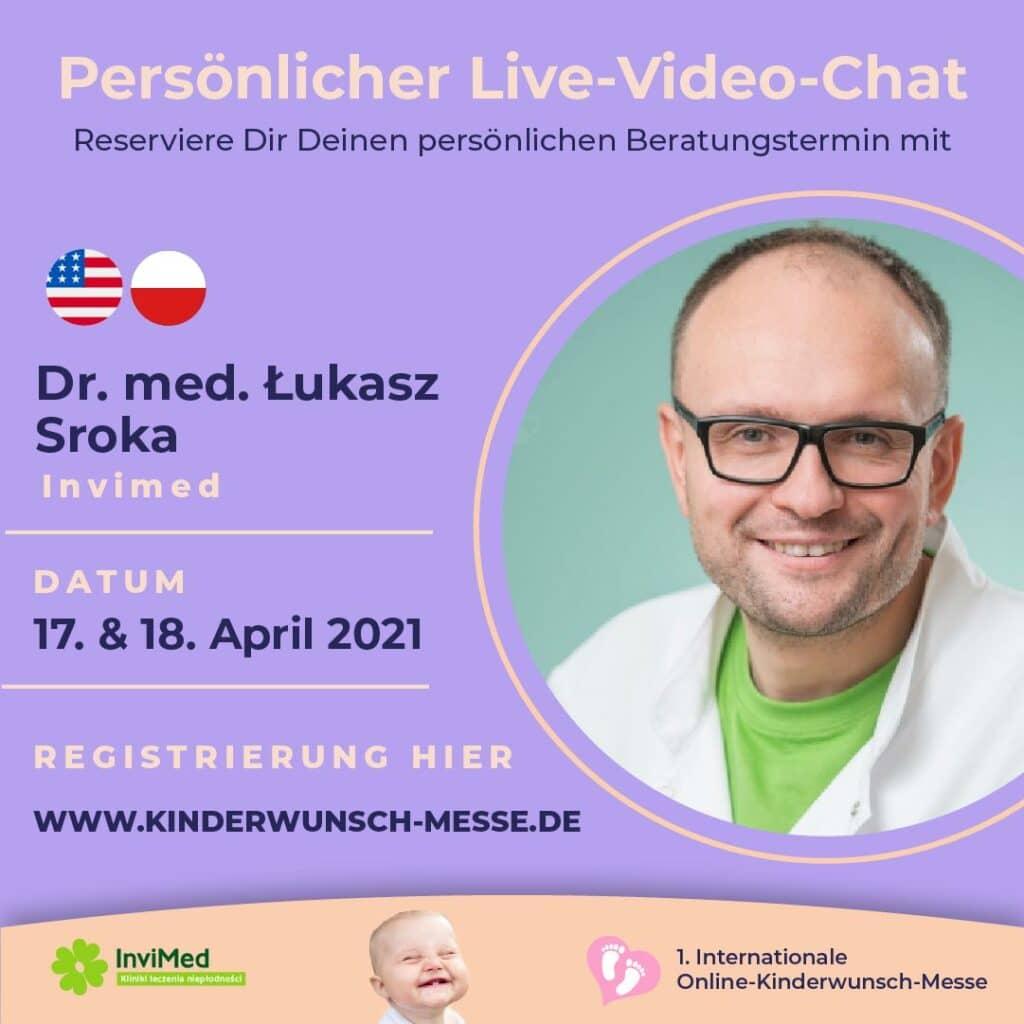 Persönliches Beratungsgespräch mit Dr. med. Lukasz Sroka, InviMed
