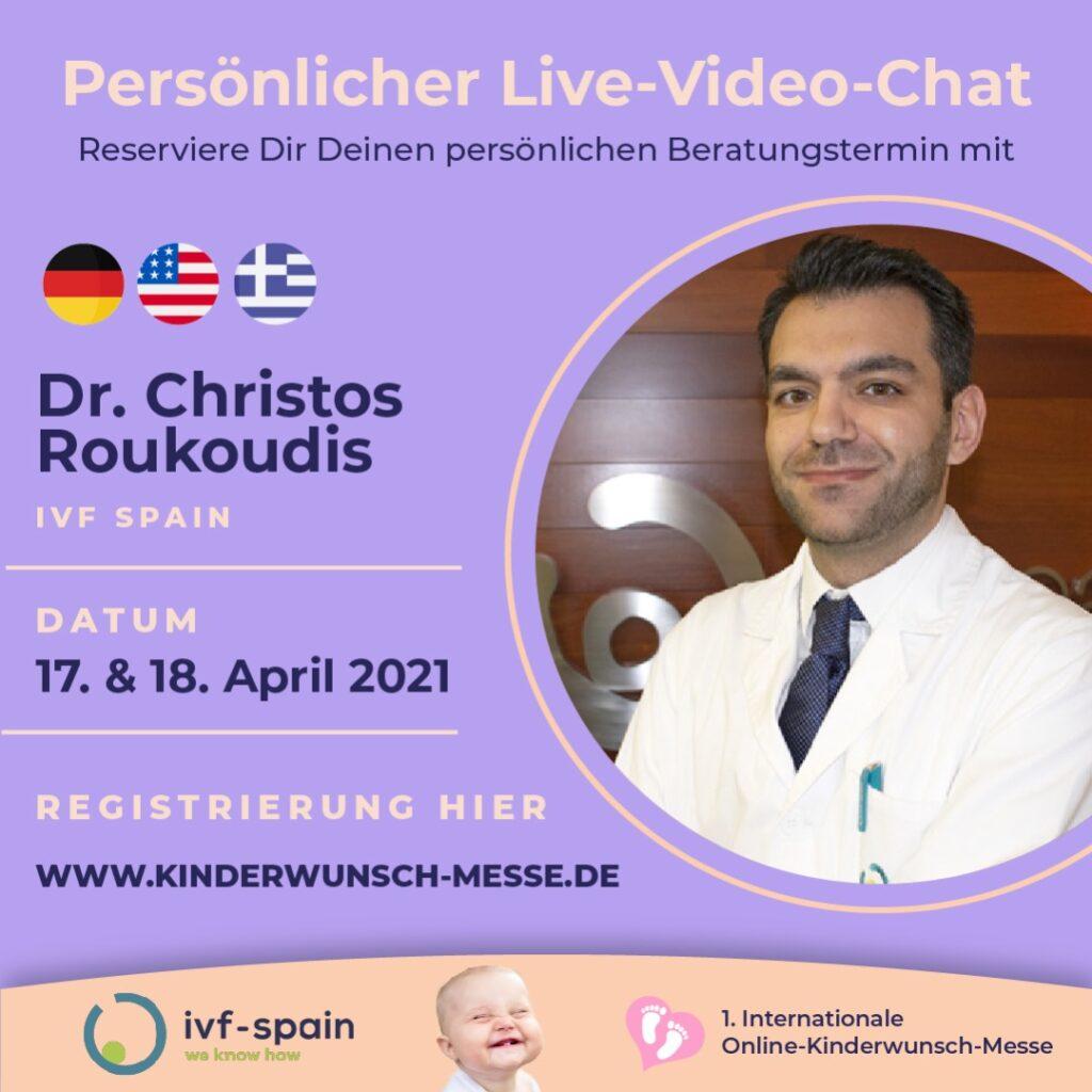 Persönliches Beratungsgespräch mit Dr. Christos Roukoudis, IVF Spain