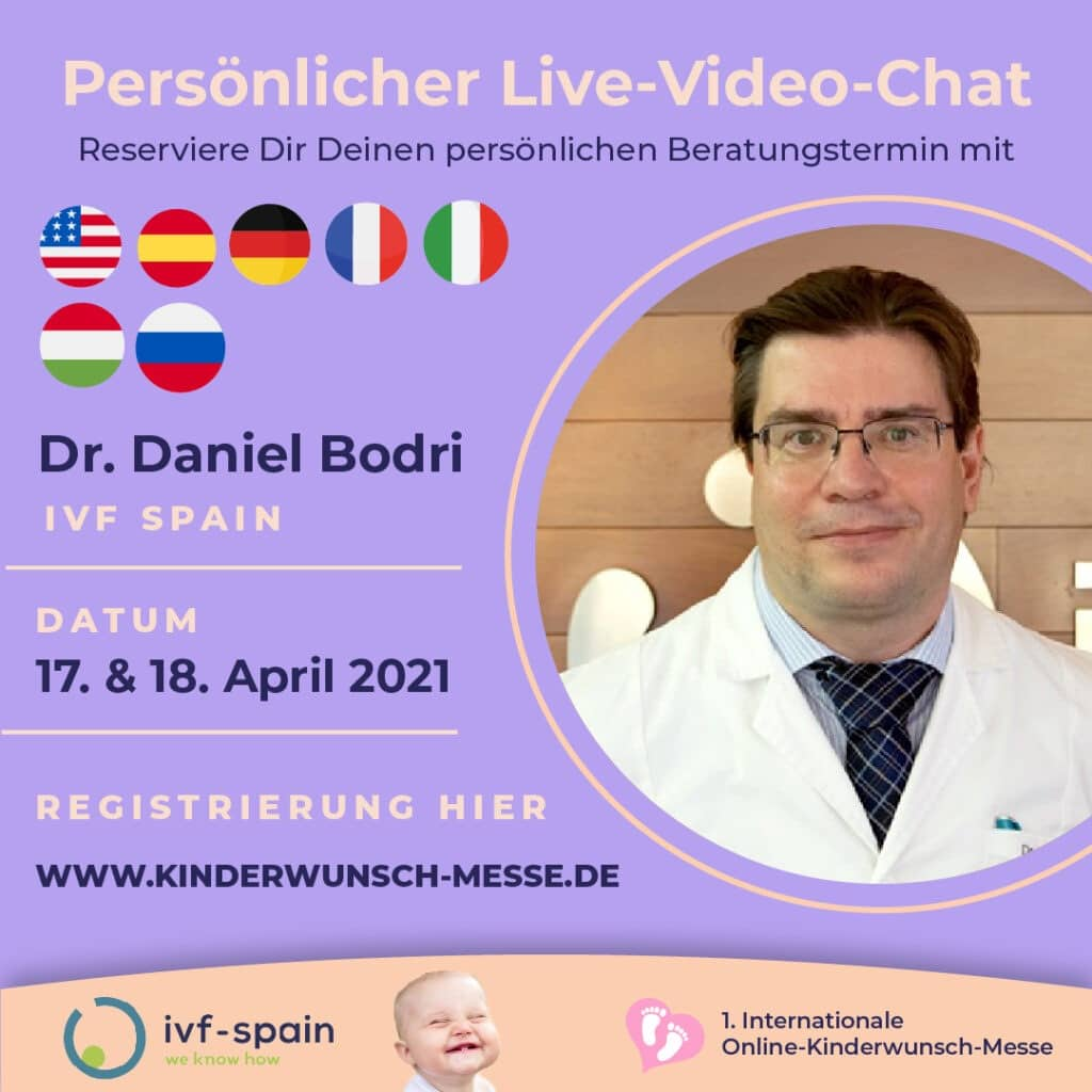 Persönliches Beratungsgespräch mit Dr. Daniel Bodri, IVF Spain