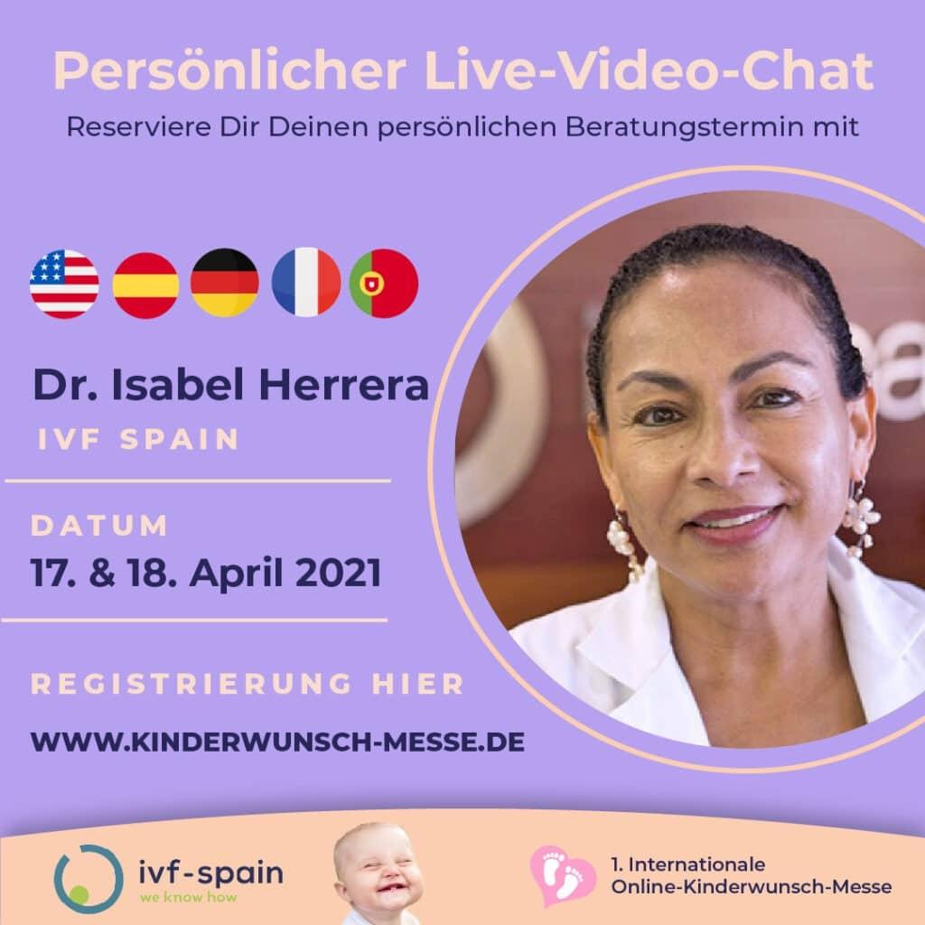 Persönliches Beratungsgespräch mit Dr. Isabel Herrera, IVF Spain