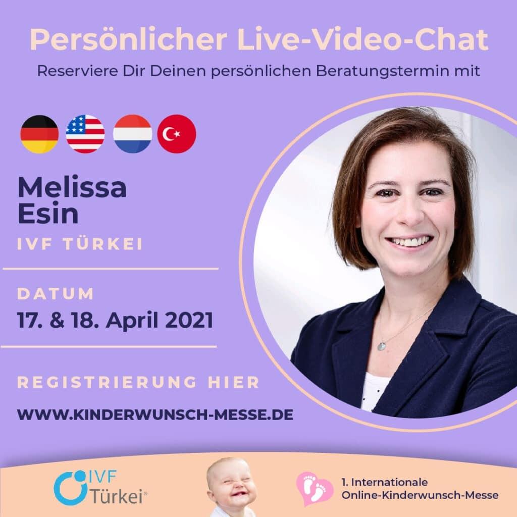 Persönliches Beratungsgespräch mit Melissa Esin, IVF Türkei