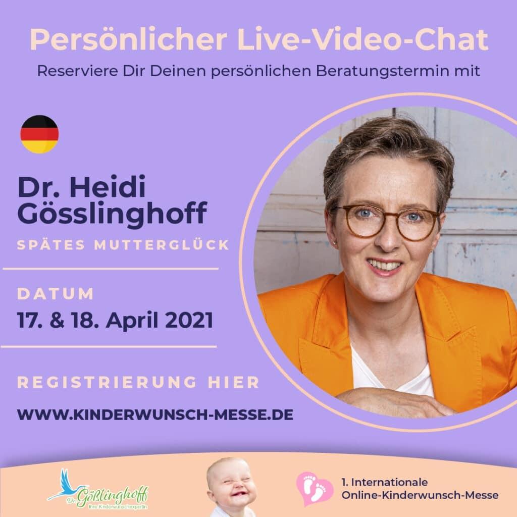 Persönliches Beratungsgespräch mit Dr. Heidi Gösslinghoff
