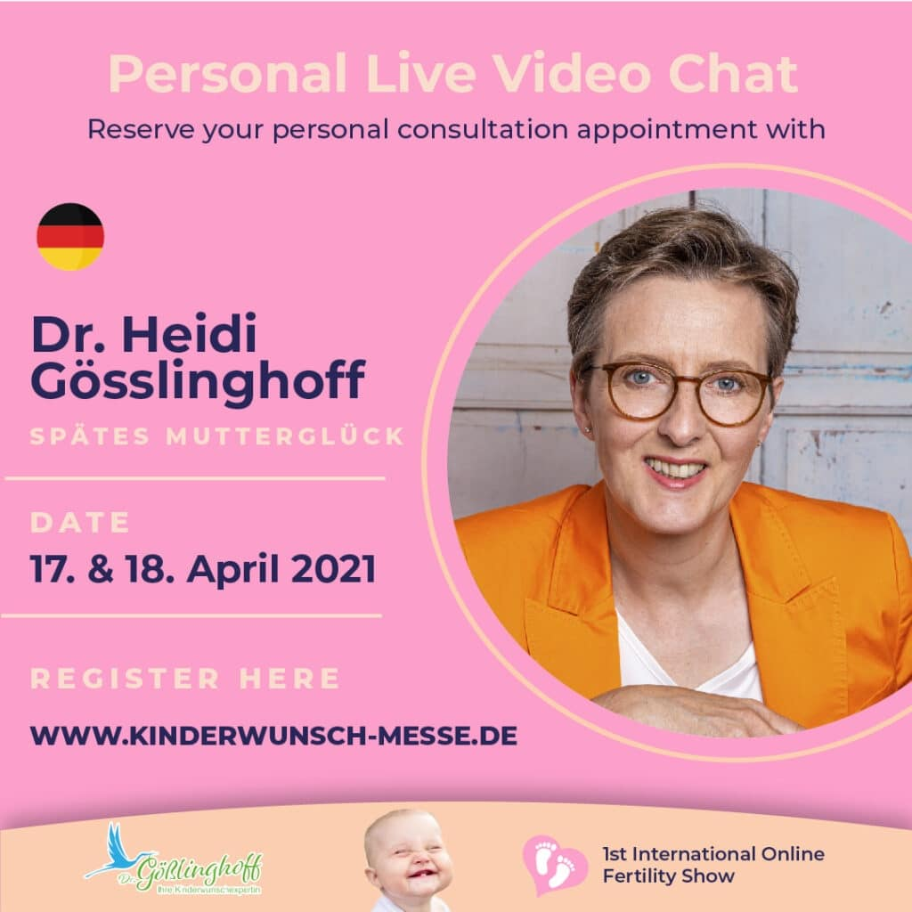 Personal Consultation with Dr. Heidi Gösslinghoff